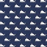 Fabulous Fabrics Cretonne Wal – Navy — Meterware ab