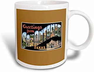 3dRose mug_170627_3 Greetings from San Antonio, Texas Scenic Postcard Reproduction Magic Transforming Mug, 11-Ounce