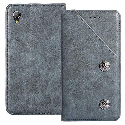 YLYT Flip Blue Schutz Hülle Hülle Für Caterpillar Cat S52 5.65 inch Etui Leder Tasche Handyhülle Hochwertiges Stoßfeste Kartenfach Cover