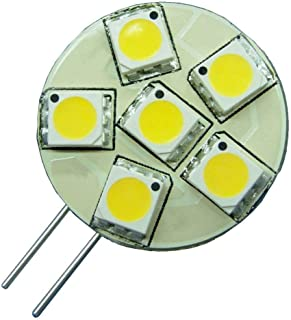 PACK OF 6 - G4 Bi Pin LED Light Bulb Side Mount 2 Pin AC DC 12V 24V Replacement for JC Halogen Lamps of Marine Vehicles Bo...