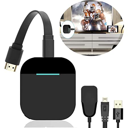 2.4G WiFi HDMI Adapter Connector Support Airplay DLNA Miracast for iOS Android//Windows//Mac 4K HDMI Wireless Display Dongle