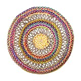 Vidal Regalos Alfombra Redonda Multicolor 120 cm 80% Algodón 20% Yute