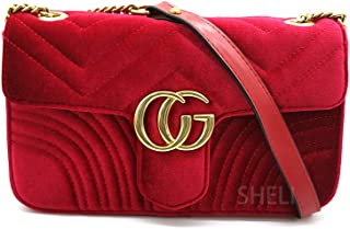 Crossbody Bags Quilted Purses and Handbags Shoulder Chain Bags for Women Purses Velvet