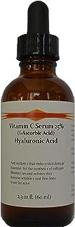 Vitamin C Skin Serum 25% (L-ascorbic Acid) with Pure Hyaluronic Acid Anti Aging Serum (2.3oz)