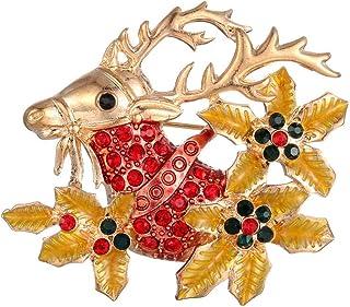 WJJW Spilla di Fascia Alta con Goccia di Olio di Alce di Natale, Ornamenti di coriandolo