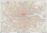 Gran Londres - Código postal Distrito Wall Map-Plastic Coated