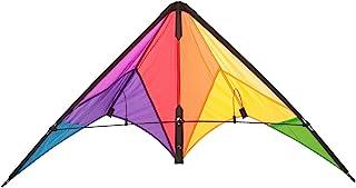 HQ Kites Beach and Fun Calypso II Radical- Beginner Stunt Kite - 43 Inch Dual - Line Sport Kite, Color: Rainbow - Active O...
