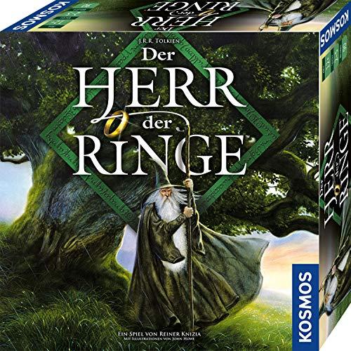 KOSMOS 680473 Der Herr der Ringe, Ein heldenhaftes Abenteuer erwartet euch, kooperatives Fantasy-Brettspiel. Für 2 bis 5 Spieler ab 12 Jahre, Gesellschaftsspiel
