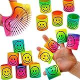 German Trendseller® - 12 x Regenbogen - Strolche ┃ -NEU- ┃ Happy Face ┃ Kindergeburtstag ┃ Mitgebsel ┃12 x Strolche zum Ziehen