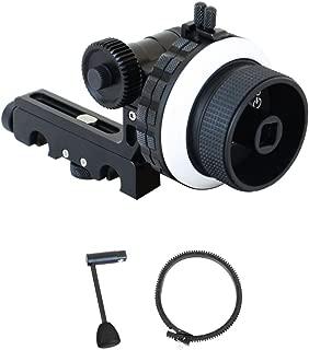 PROAIM HS-1000 Professional Hi-Grade Follow Focus with A/B Hard Stops, Flexible Gear Belt & Speed Crank | for 15mm Rod Support & DSLR Video Camera Stabilizer Shoulder Rig (HS-1000)