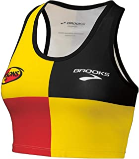 Brooks Hansons Original Distance Project Short Support Tank Yellow Black Red Colorblock