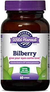 Oregon's Wild Harvest, Bilberry Capsules, Antioxidant Supplement, 880 mg, 60 Count