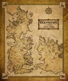 FantasticDecoration Game of Thrones Map of Westeros and The Free Cities Poster Art Print 038 28x24 B