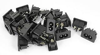 sourcingmap 15 x 6.35mm 0.6cm Maschio Molla Spina Ste per Reo Mono Audio Adattatore Del Connettore