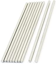 sourcingmap Barres rondes en acier inoxydable, tiges pour axes. Maquettes de voiture jouet RC, 3mm x 90mm, 10pièces