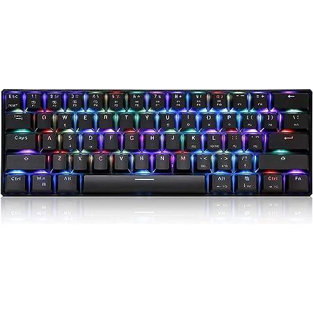 Docooler MOTOSPEED CK61 Teclado mecánico para Juegos,RGB Interruptores Azules OUTMU Teclado 61 Teclas Anti-Efecto Fantasma con luz de Fondo para ...