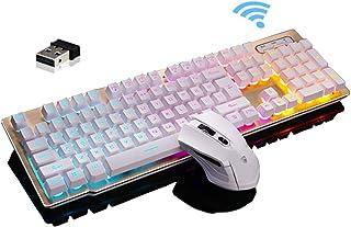 LexonElec Keyboard and Mouse Combo,Wireless 2.4G Technology,1000mAh Large Capacity,Suspended Keycap Mechanical Feel Backli...
