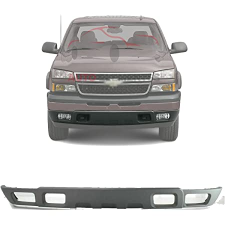 Amazon Com New Front Bumper Lower Valance Air Deflector Textured Light Gray With Fog Light Holes For 2003 2006 Chevrolet Silverado 1500 2500 3500 2000 2006 Tahoe Suburban Direct Replacement 10397999 Automotive
