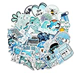 FENGLING Cartoon Blue Style Girl Stickers for Laptop Moto Skateboard Luggage Refrigerator Notebook Laptop Toy Sticker 50Pcs