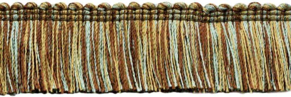 5 Yard Value Pack of Auburn 9875 Beachwood // Color: Flambe Camel Gold 1 1//2 inch Basic TrimBrush Fringe//Style# 0150SB-RYN 4.6 M // 15 Ft PR02 Wine