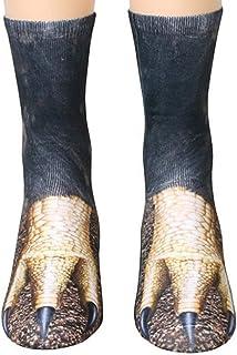 Best Animal Paws Socks-Novelty Animal Socks Crazy 3D Cat Dog Tiger Paw Crew Socks ChristmasFunny Gift for Women Men Review