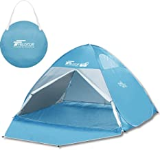FIELDOOR Pop Up Tent, Full Closure, Sunshade Tent, Width 63.0 / 78.7 inches (160 / 200 / 240 cm), Double Sided Mesh, Sunshield Material, UV Protection Coating, One-Touch Tent