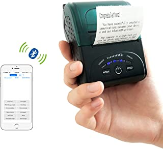 Thermal Receipt Printer Portable Personal Mobile Printer Mini Wireless Bluetooth Printer for iOS and Android Systems,58MM USB Thermal Printer Compatible with ESC/POS/Star Print Commands Set.