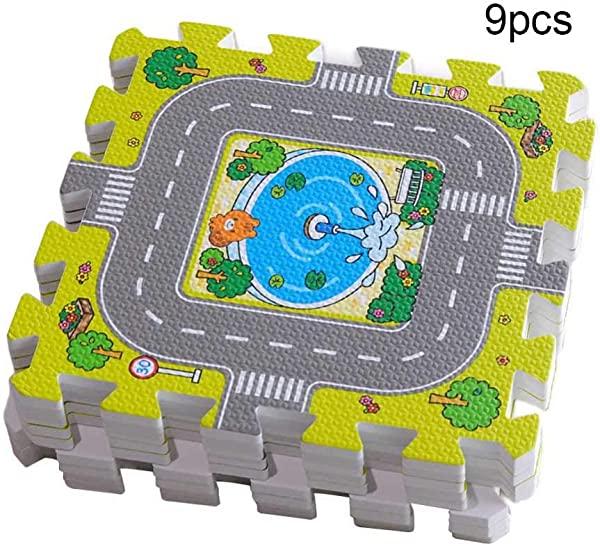 Wenje Baby Puzzle Foam Mat Play Mats Kids Carpet Play Crawling Mat Game Mat Floor Rugs 9pccs