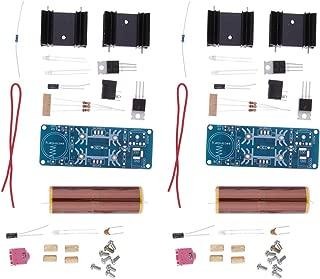 2 Pieces Mini Tesla Coil Plasma Speaker Kit Music Wireless Transmission Board Module DC 15-24V for DIY