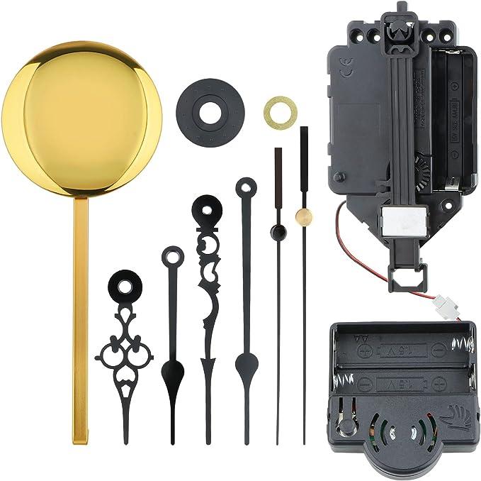 LOVIVER Caja de música con movimiento de reloj de péndulo, kit de repuesto para bricolaje, piezas de reparación fáciles de instalar : Amazon.com.mx: Hogar y Cocina