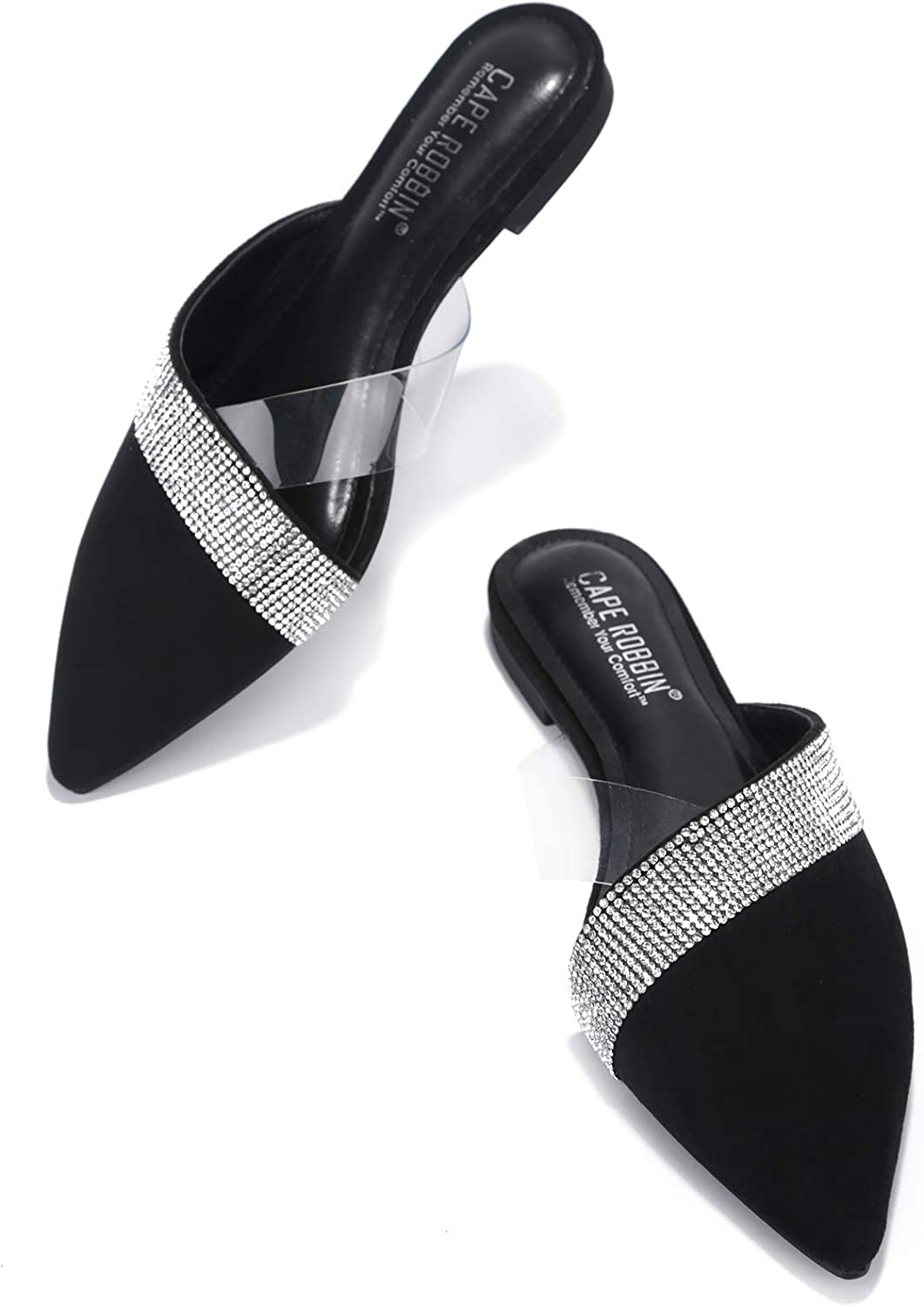 Cape Robbin Cici Flat Sandals Slides for Women, Womens Mules Slip On Shoes