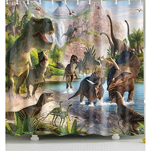 cortinas ducha dinosaurios