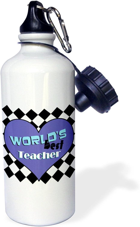 3dpink wb_31246_1 Worlds Best Boss Pink Sports Water Bottle, 21 oz, White