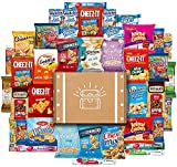 Snack Chest Care Package (40 Count) Variety Gift Box - College Students, Military, Work or Home - Over 3 Pounds of Snacks, Chips, Crackers and Cookies!