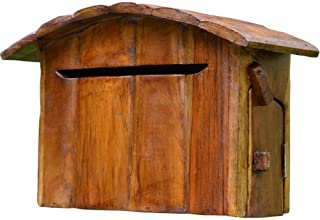 郵便受け・メールボックス ウォールマウント メールボックス 外、家、ポーチ、 小容量 木製 郵便ポスト レターボックス、 ヴィンテージミニハウスデザイン