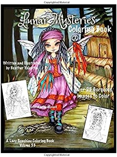 Lunar Mysteries Coloring Book: Lacy Sunshine Coloring Book Fairies, Moon Goddesses, Surreal, Fantasy and More: 53