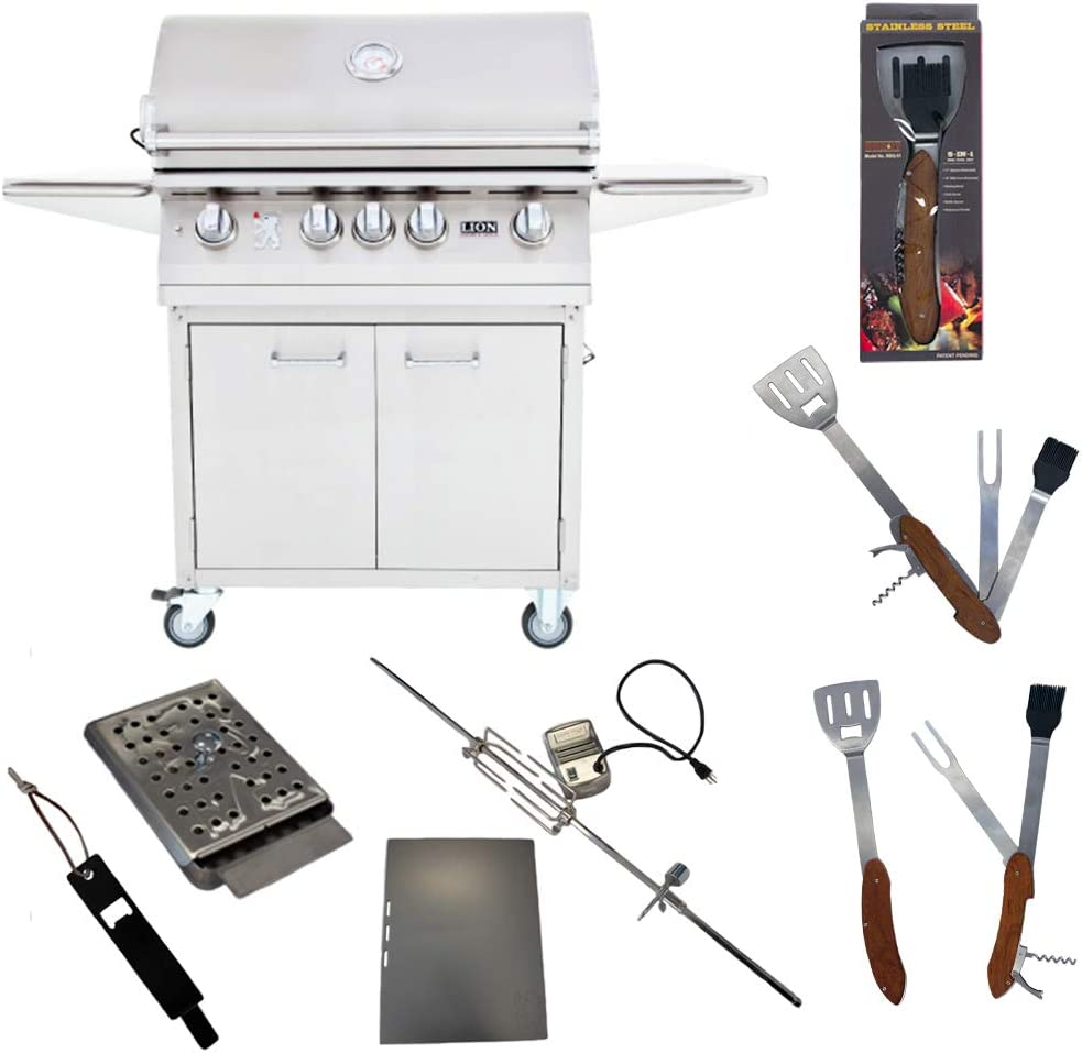 Lion Premium Regular store Grills 32-Inch Natural Gas on Cart wit L75000 Max 59% OFF Grill