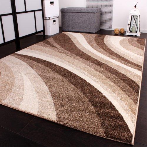 Paco Home Tappeto Moderno di Design Tappeto 'Winchester' in Crema, Dimensione:80x150 cm