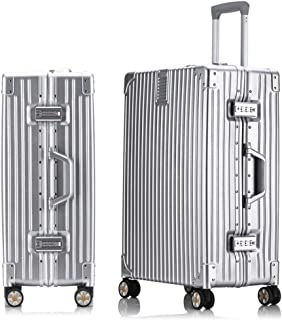 WHPSTZ Trolley Box Scratch-Resistant Thickening Aluminum Alloy Luggage Suitcase Universal Wheel Trolley Travel Business 20 Inch Business Boarding Chassis Trolley case