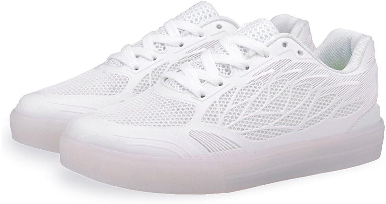 Super frist Unisex Men & Women LED USB colorful shoes Mesh Tennis Walking Sneakers