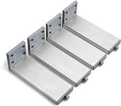Design61-4 piatti di regolazione con vite zincata M10 x 40 mm /Ø 48 mm