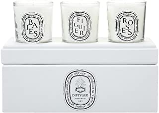 Diptyque Votive Candle Trio-Baies, Figuier, Roses-3 ct.