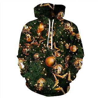 Seoullifee Women Men Ugly Christmas Sweatshirt Hoodies 3D Print Funny Pullover Kangaroo Pocket Hoodies