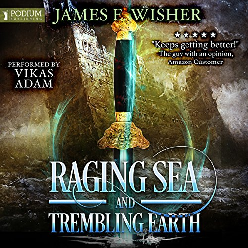Raging Sea and Trembling Earth audiobook cover art