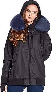 BOMBAX Women Travel Jacket 10 Pocket Flight Bomber Windbreaker Coats Outwear