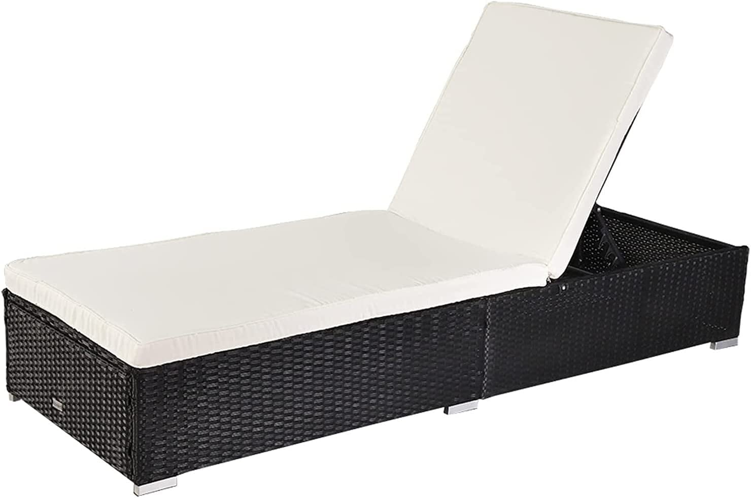HDHUIXS Compactly Outdoor Leisure Rattan Pool Furniture Bed Max 41% Houston Mall OFF Chai