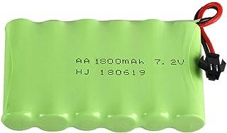 RFGTYH Batteria Ricaricabile 3000mAh 9.6v per Auto Giocattolo Rc Treni Batteria Ricaricabile AA 9.6v el-2p