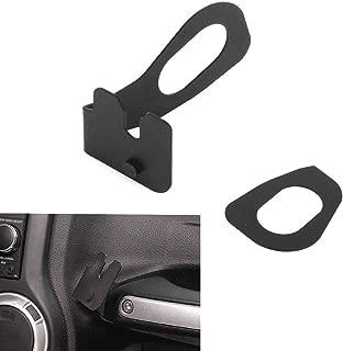AMOUTOR CB Mic Mount, Jeep Wrangler JK 2011-2018 Passenger Holder Grab Bar, Microphone Mounting Bracket
