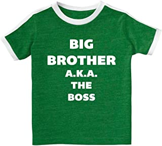 Mashed Clothing - Big Brother A.K.A. The Boss - Toddler & Youth Soccer Retro Stripe T-Shirt