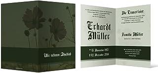 100 x Trauerkarten individuell Trauer Todesfall Beerdigung Beisetzung - Pflanzen Wachstum B07BH4M21F  Einzigartig